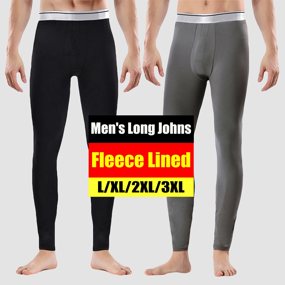 Thick Fleece Lined Men/'s Long Johns Home Pajamas Thermal Underwear Bottom Pants