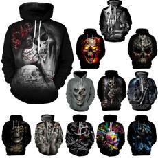 Couple Hoodies, 3D hoodies, hooded, skull sweatshirt