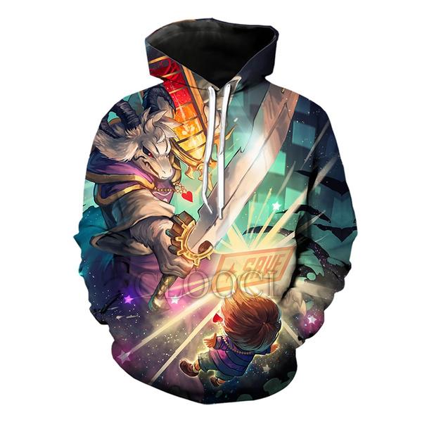3D hoodies, hooded, gamehoodie, undertale