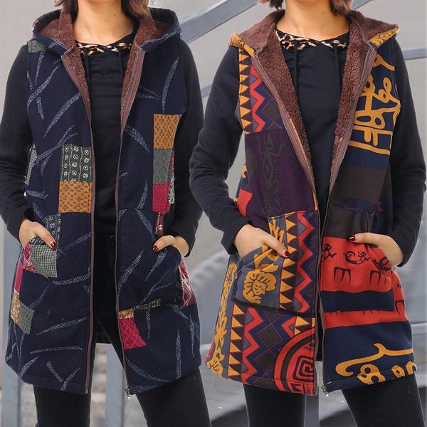 fur coat, Fleece, Plus Size, Waist Coat