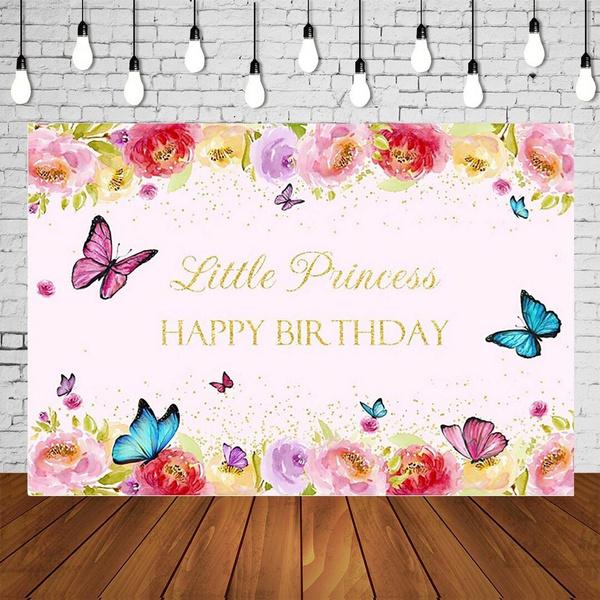 pink, Flowers, Butterflies, Princess