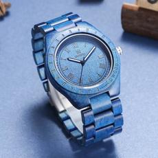 woodenwatch, Blues, quartz, fashion watches