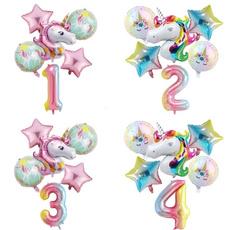 rainbow, Balloon, unicorn, 32inchballoon