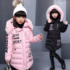 girlswintercoat, Thicken, teenagegirlscoat, fur