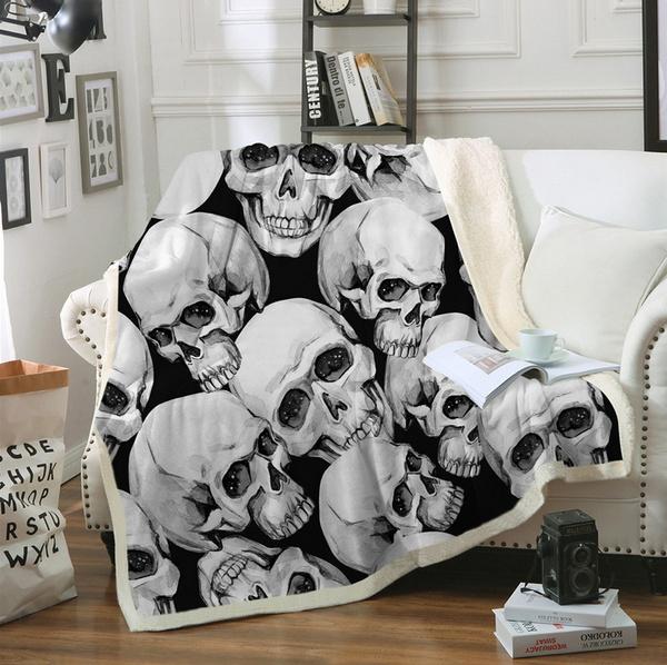 Goth, fleecethrowblanket, bedblanket, blanketcover
