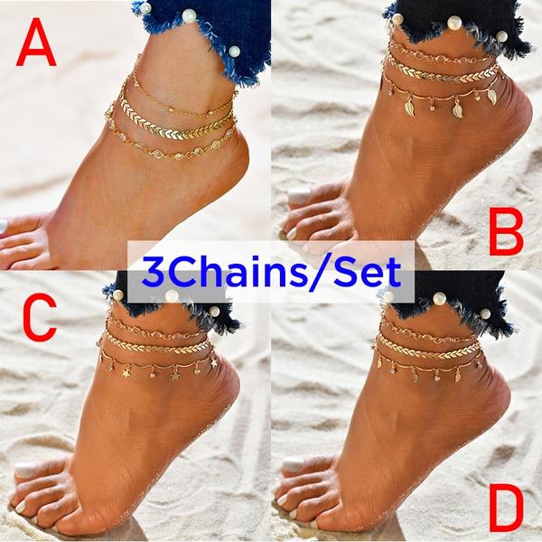 summeranklet, footanklet, ankletsampbracelet, barefootjewelry