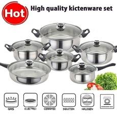 Steel, Kitchen & Dining, stockpot, cookingpot
