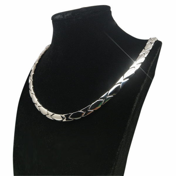 Titanium Men Necklace Magnetic Therapy