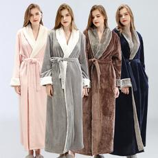 gowns, womanlongrobenightgown, fur, Winter