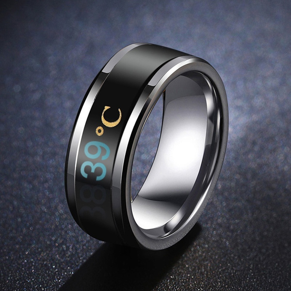 Couple Rings, Steel, temperaturesensing, smartring