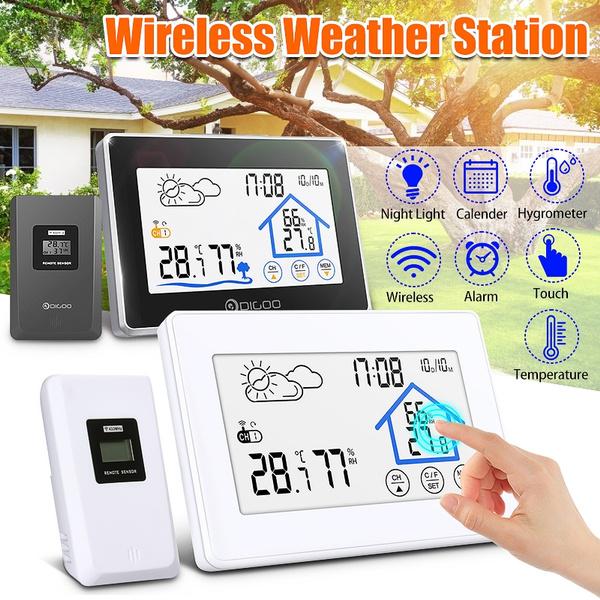 weatherstationclock, weatherclock, wirelessweatherforecaststation, thermometerclock