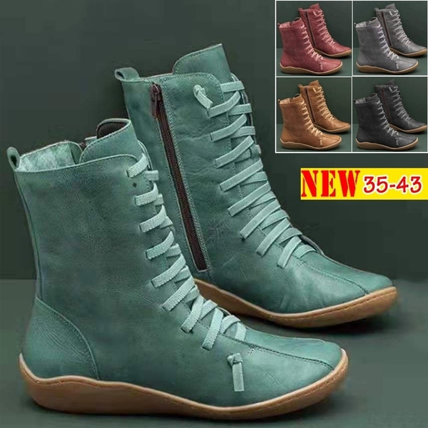 Plus Size, Leather Boots, Winter, short boots