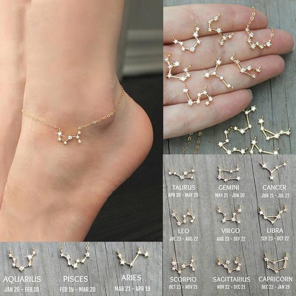 Cubic Zirconia, DIAMOND, Chain, zodiacbracelet