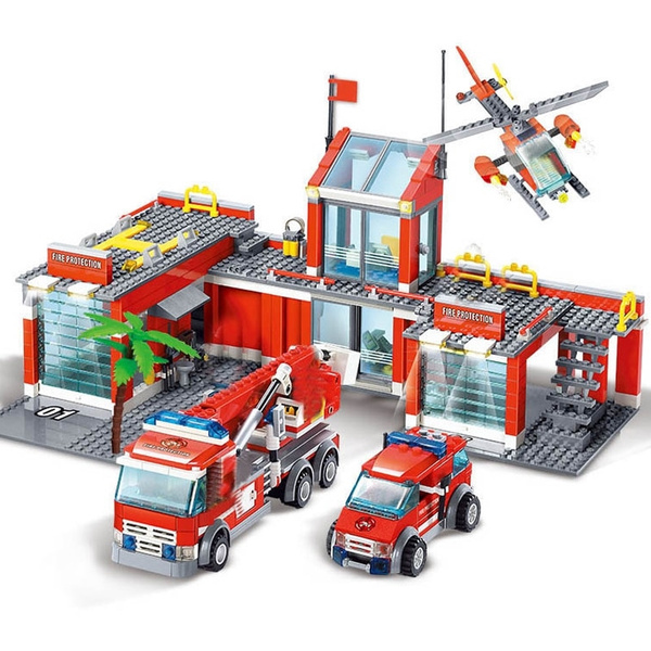 buildingblockgame, firestation, newcity, Toy
