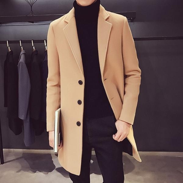 woolen, Jacket, Fashion, Long Coat