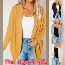 Plus Size, long sleeve sweater, sweater coat, Long Sleeve