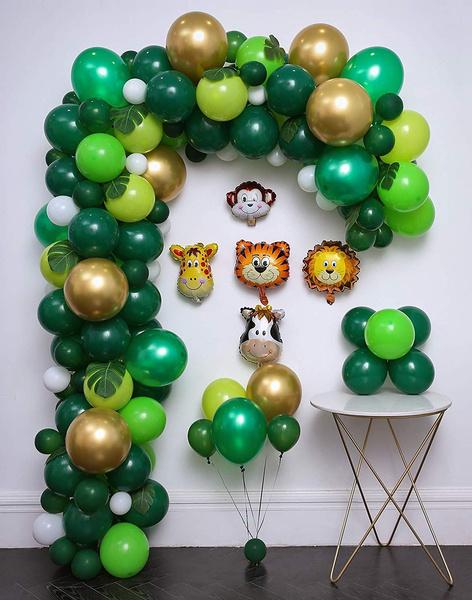 balloonarchsafari, junglepartydecoration, junglesafari, junglesafariparty