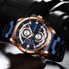 Box, Steel, Men Business Watch, Waterproof Watch