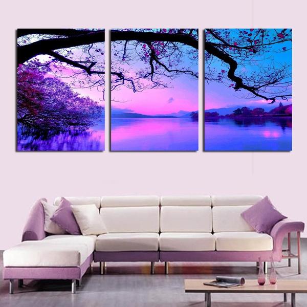 roommural, art, lakeoilpainting, purple