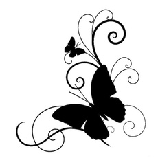butterfly, Car Sticker, Cars, Stickers