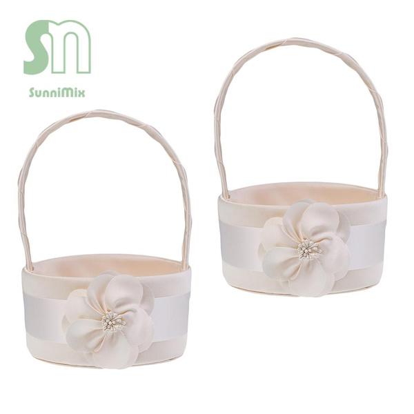 champagne, Baskets, Elegant, weddingflowergirlsbasket