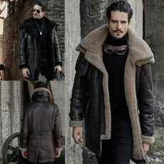 Turn-down Collar, motorcyclejacket, Plus Size, fur