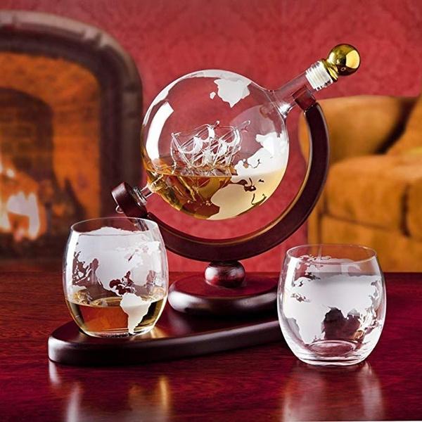 Antique, 850ml, handblown, globedecanter