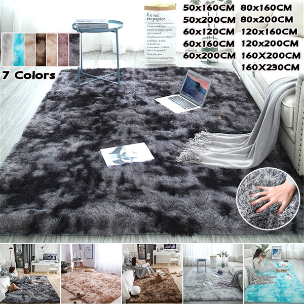 Tie-Dye Art Carpet Soft Floor Mat Large Size Fluffy Area Rug Room Carpet N2D1