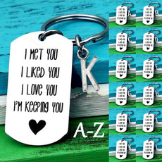 Stainless Steel, Key Chain, Letters, Gifts
