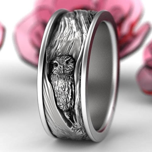 fashionringformen, Sterling, 925 sterling silver, wedding ring