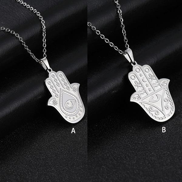 hamsahand, Men  Necklace, punk necklace, amuletjewelry