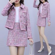 woolen, pink, Women, tweedcoat