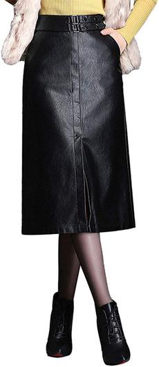 womenfauxleatherskirt, leather, high waist skirt, leather skirt