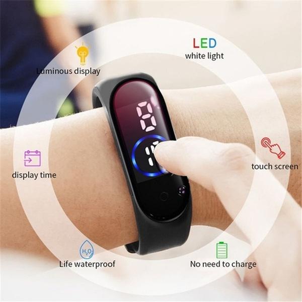 digitalwatche, led, Waterproof Watch, Waterproof