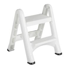 white, ladderktichencompactplasticskidresistant, Stool