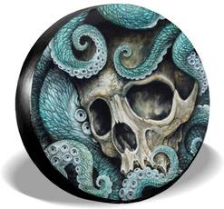 Wheels, rv, art, skull