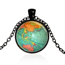 earthnecklace, mappendant, globependant, Jewelry