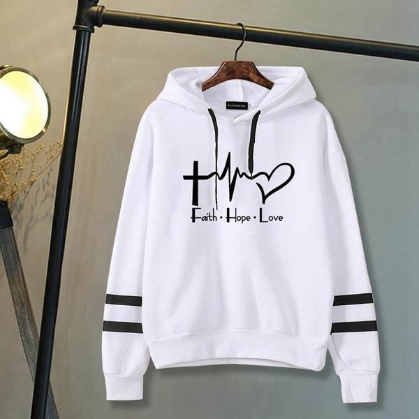 Casual Hoodie, Love, pullover hoodie, Women Hoodie