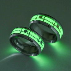 Couple Rings, Steel, heartbeatring, Stainless Steel
