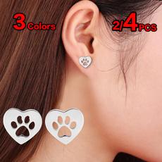 Heart, Stud, Jewelry, Stud Earring
