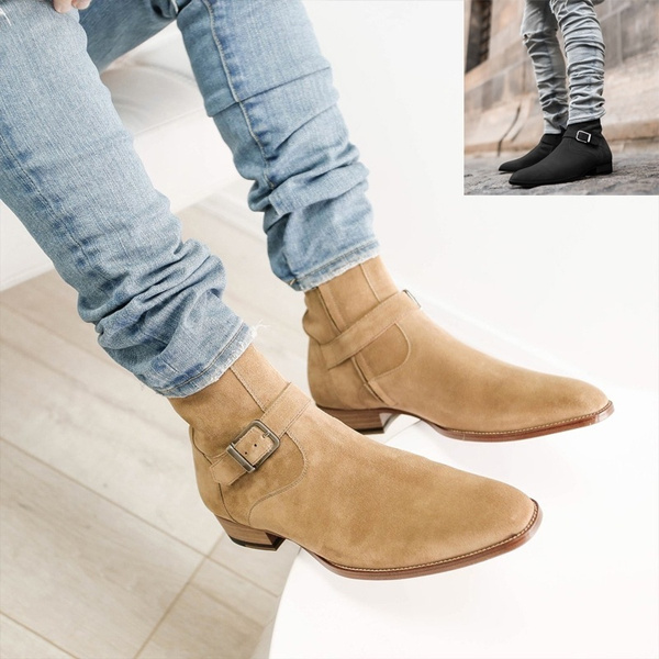 2020 High Fashion Suede Leather Men