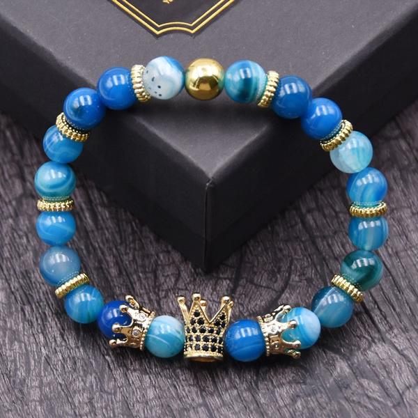 Charm Bracelet, crown, Jewelry, beadbracelet