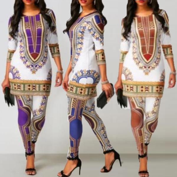 africanprint, Leggings, Plus Size, Casual pants