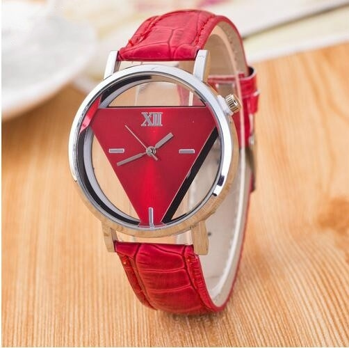 Watches Women's, Fashion, Triangles, leather strap