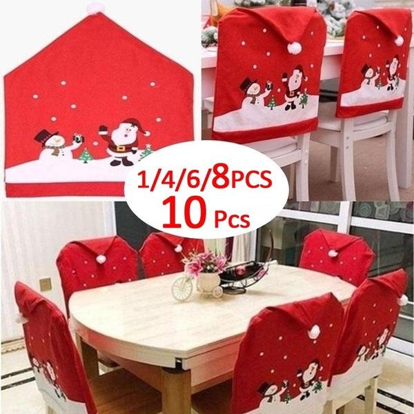 chaircover, Christmas, christmastablecloth, santaclauscover