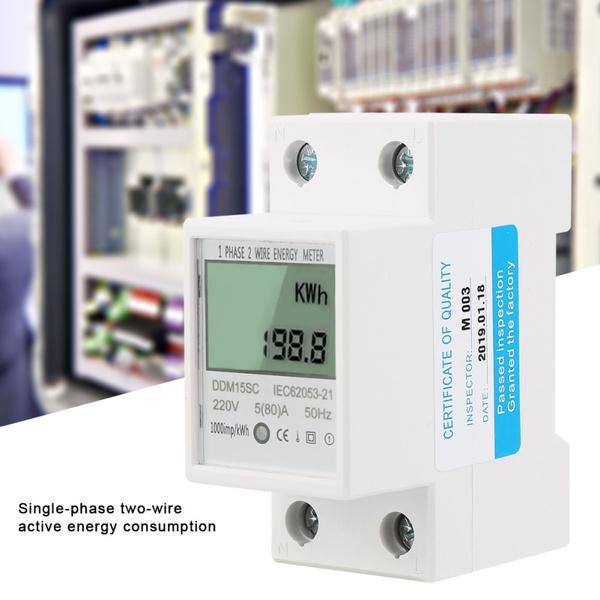 Electric, Home & Living, electronickwhmeter, digitalwattmeter