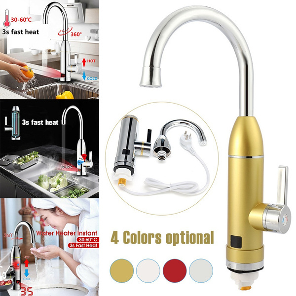 3000w 220v Digital Electric Instant Hot Water Faucet Kitchen Faucet Hot Water Heater Fast Heating Water Faucet Wish