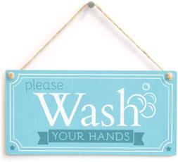 wallarttinsign, washyourhand, garagetinsign, Wooden