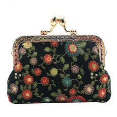 flowerprintingcoinpurse, Flowers, casesampbag, women purse