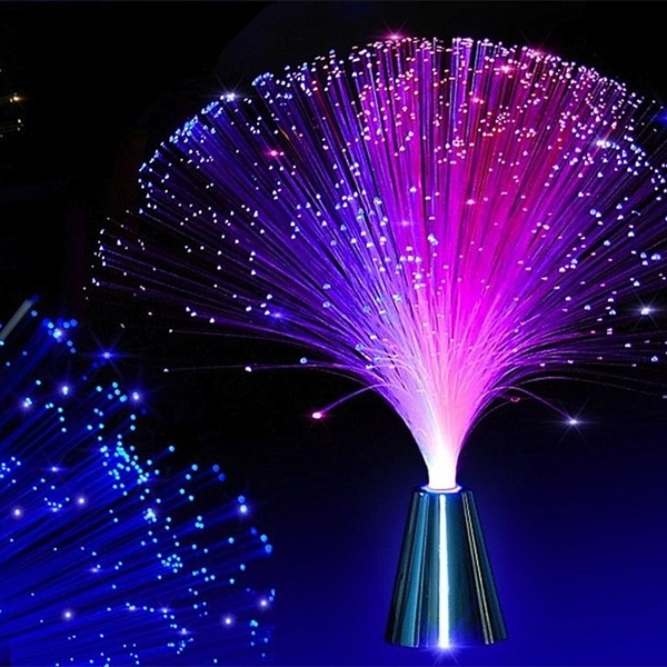Fiber, Night Light, Home Decor, Colorful